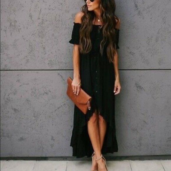 NWT Vici black satin senorita dress